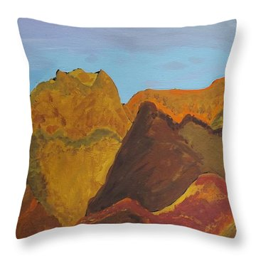 Utah Mountains Throw Pillow
