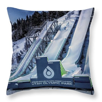 Utah Olympic Park Throw Pillow