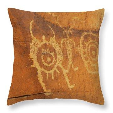 Utah Rock Art II Throw Pillow