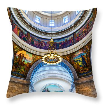 Utah State Capitol Rotunda #2 Throw Pillow