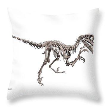 Utahraptor Throw Pillow
