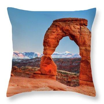 Utah's Arch Throw Pillow