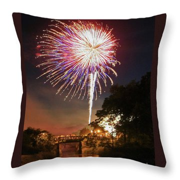 Utica Fireworks Throw Pillow