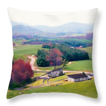 Throw Pillow featuring the painting Utopia by Dan Carmichael