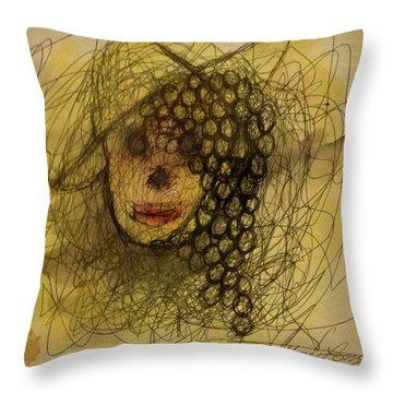 Uva Queen Of The Grapes Throw Pillow