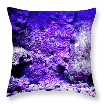 Throw Pillow featuring the photograph Uw Coral Stone 2 by Francesca Mackenney