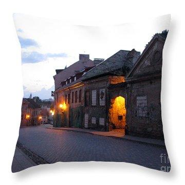 Uzupis Street. Old Vilnius. Lithuania. Throw Pillow