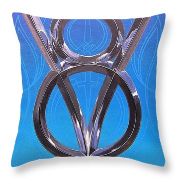 Throw Pillow featuring the painting V Eight Power by Alan Johnson