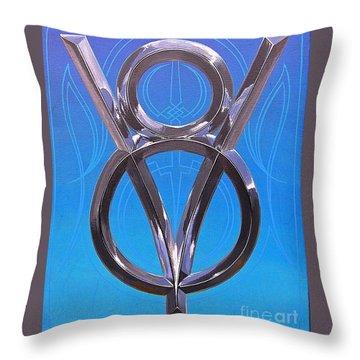 V Eight Power Throw Pillow