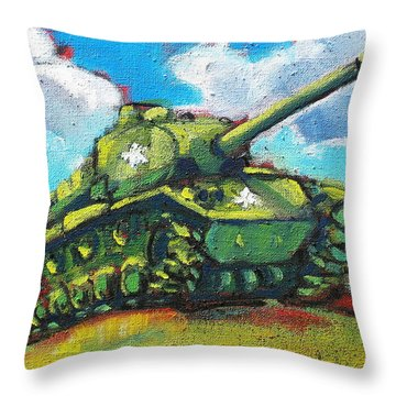 V. F. W. Tank Throw Pillow