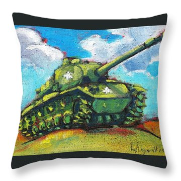 V. F. W. Tank Throw Pillow