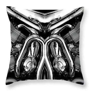 V-rod Throw Pillow