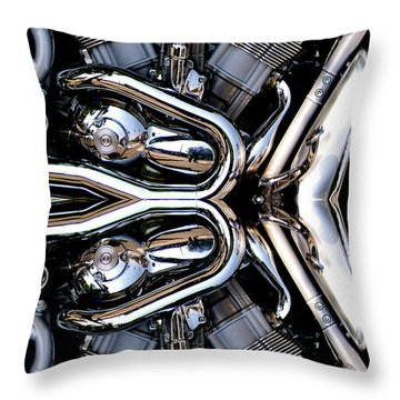 V-rod Reflected Throw Pillow