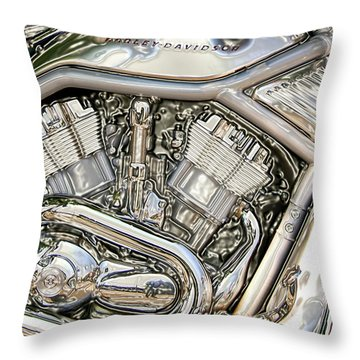 V-rod Titanium Throw Pillow