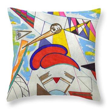V Twin Throw Pillow