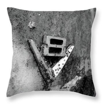 V8 Emblem Throw Pillow