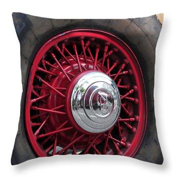 V8 Wheels Throw Pillow by David Lee Thompson