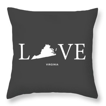 Throw Pillow featuring the mixed media Va Love by Nancy Ingersoll