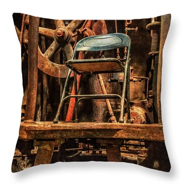 Vacant Control Station  Throw Pillow by Phillip Burrow