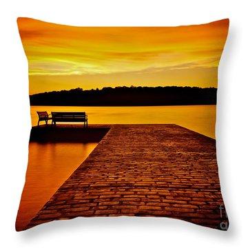 Vacant Sunset Throw Pillow