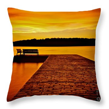 Vacant Sunset Throw Pillow