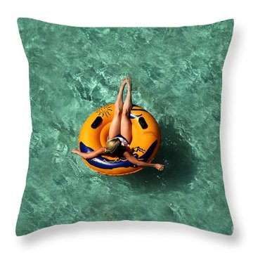Vacation Throw Pillow by David Lee Thompson