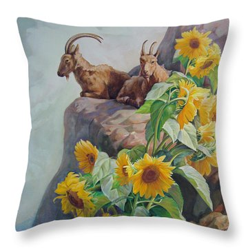 Vacation In The Rocky Mountains Throw Pillow