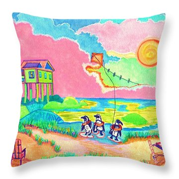 Vacation In The Sun Throw Pillow