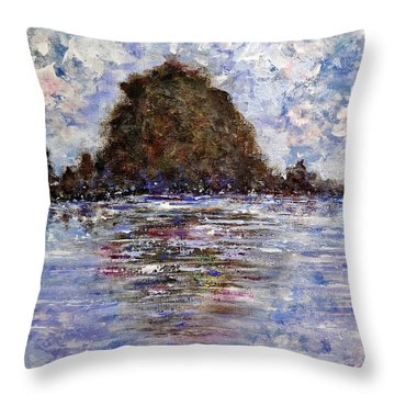 Throw Pillow featuring the painting Vacation Time.. by Cristina Mihailescu