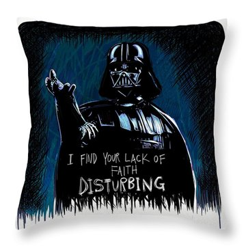 Throw Pillow featuring the digital art Vader by Antonio Romero
