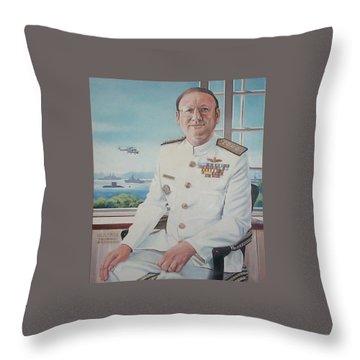 Vadm Robert Claude Simpson-anderson Throw Pillow by Tim Johnson