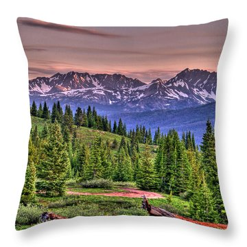 Vail View Throw Pillow by Scott Mahon