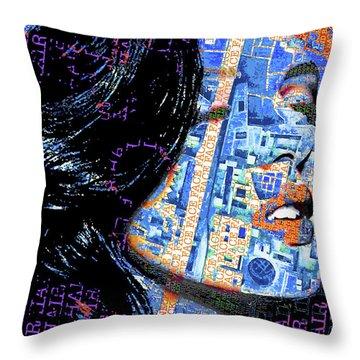 Throw Pillow featuring the mixed media Vain by Tony Rubino