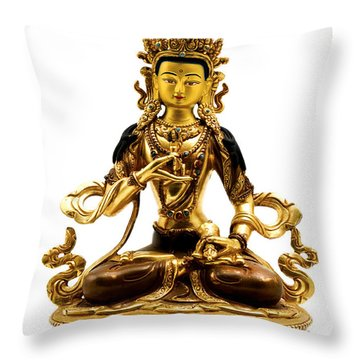 Vajrasattva Throw Pillow by Fabrizio Troiani