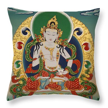 Vajrasattva Throw Pillow by Sergey Noskov