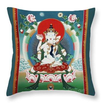Vajrasattva Yuganadha  Throw Pillow by Sergey Noskov