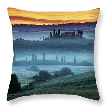 Val D'orcia Throw Pillow by Evgeni Dinev