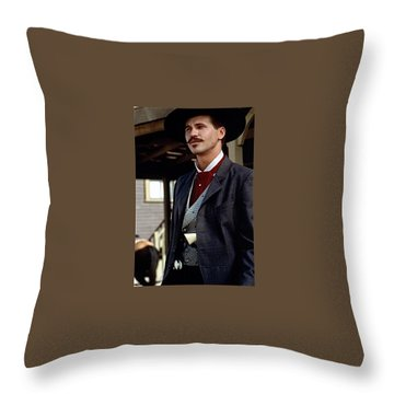 Val Kilmer As Doc Holliday Tombstone Set 1993-2015 Throw Pillow