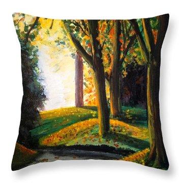 Vale Park  Throw Pillow