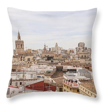 Valencia Panorama Throw Pillow