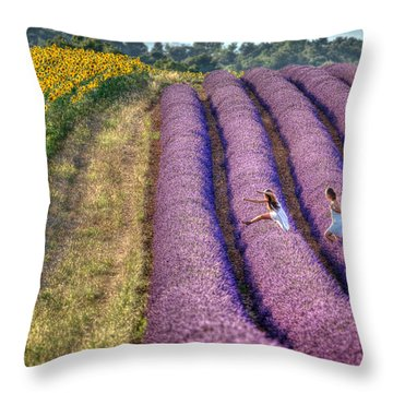 Valensole Throw Pillow