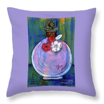 Throw Pillow featuring the painting Valentina by P J Lewis
