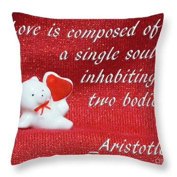 Throw Pillow featuring the photograph Valentine By Aristotle by Linda Phelps