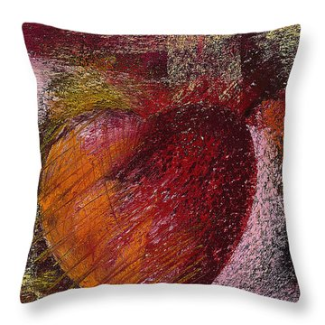 Valentine Heart Throw Pillow by David Patterson
