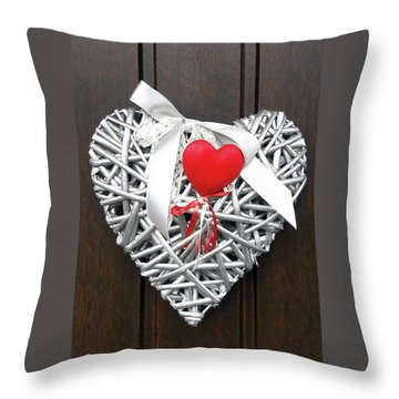 Throw Pillow featuring the photograph Valentine Heart by Juergen Weiss