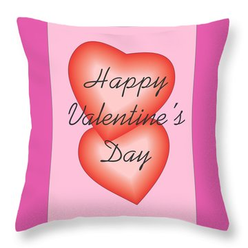 Valentine Hearts Throw Pillow by Sherril Porter