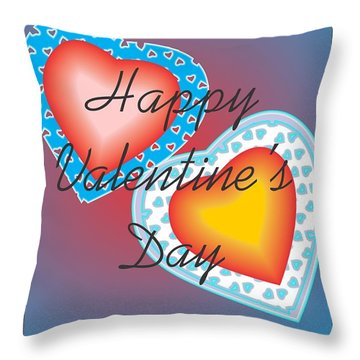 Valentine Lace Throw Pillow by Sherril Porter