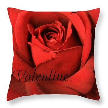 Valentine Throw Pillow by Marna Edwards Flavell