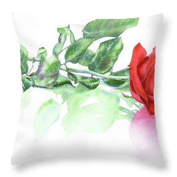 Valentine Rose Throw Pillow