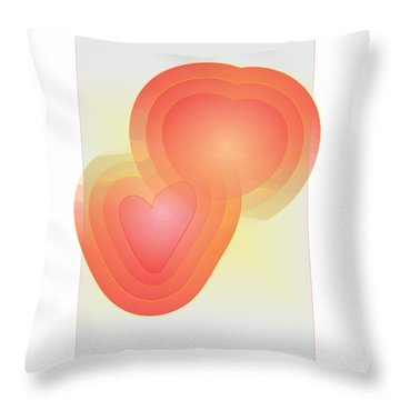 Throw Pillow featuring the digital art Valentine by Sherril Porter